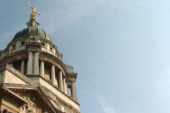 The Old Bailey where parents of a baby who died from alleged force feeding are on trial