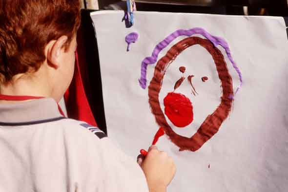 Child painting: Don't write my child off because he's an August baby