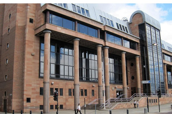 Newcastle Crown Court where a judge sentenced  evil abuse parents Robert Davey and Sarah Vasey