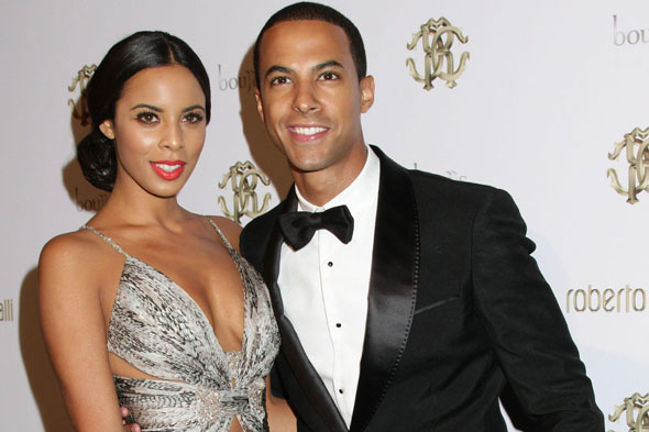 Rochelle Wiseman from The Saturdays and boyfriend Marvin Humes from JLS