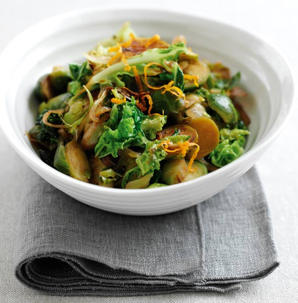 Brussel sprouts stir fried for Christmas