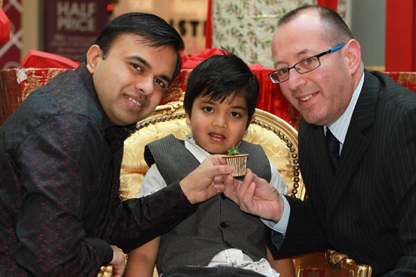 Christmas comes early for boy who won £3,000 mince pie in a raffle