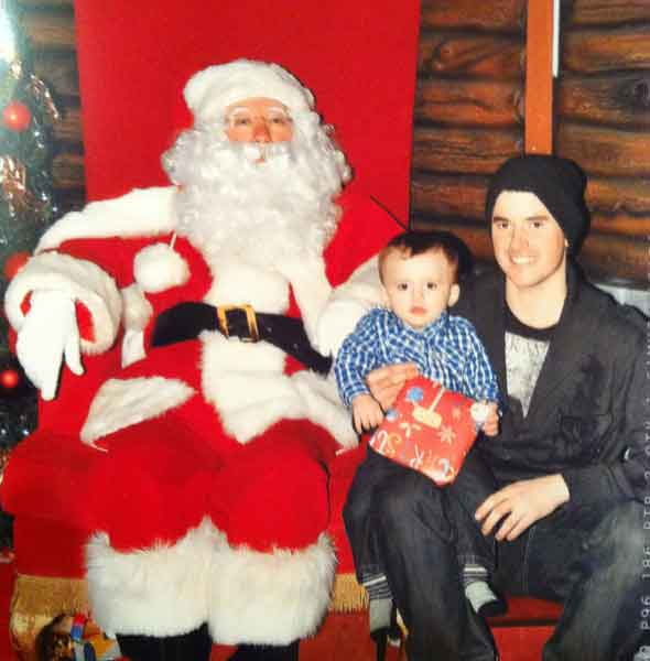 The little boy who became ill with meningitis in Santa's Grotto