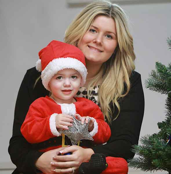 Rory Davis and his mum Verity: The little boy who became ill with meningitis in Santa's Grotto