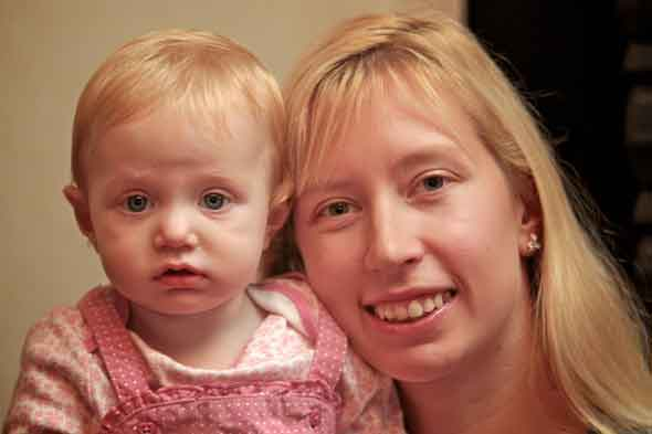 Trish Corcoran and her longed-for daughter Evie