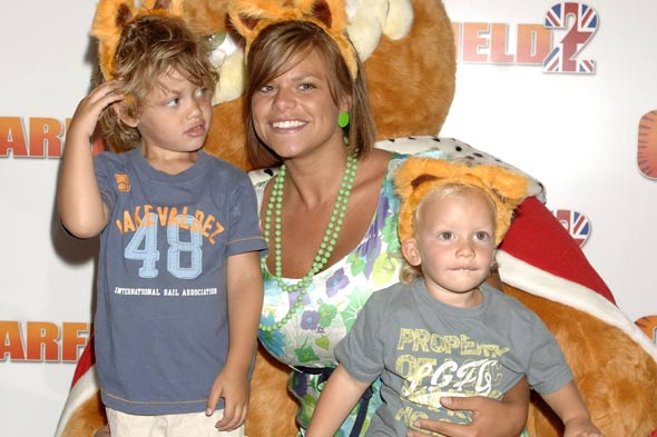Jade Goody and sons Bobby and Freddie
