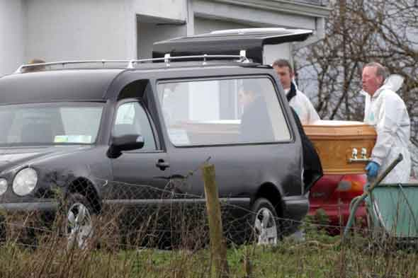 Dad and children found dead in front of TV - while wife was in hospital being treated for cancer