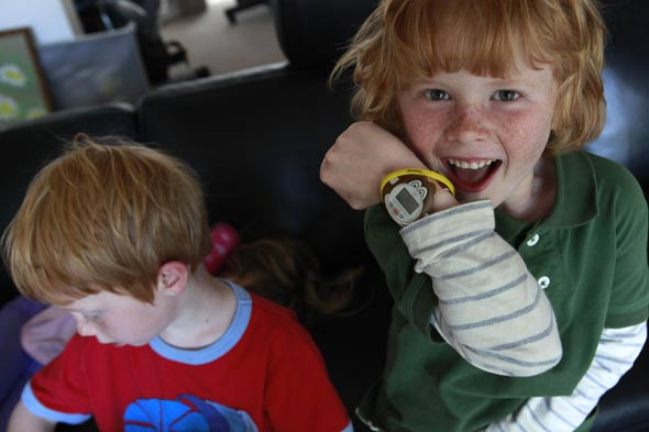 Mum invents wristband to help lost kids find parents