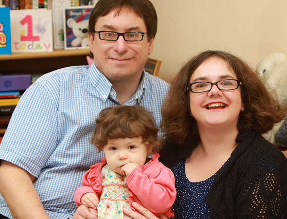 Our miracle baby cost us £40,000: Karen and Gary McLaren and baby Alice