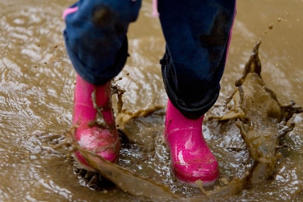 Splash in puddle: 36 things your child 'must do' by the age of three