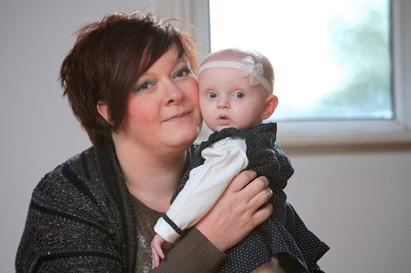 Suzanne Gaskell and baby Lily-Ann