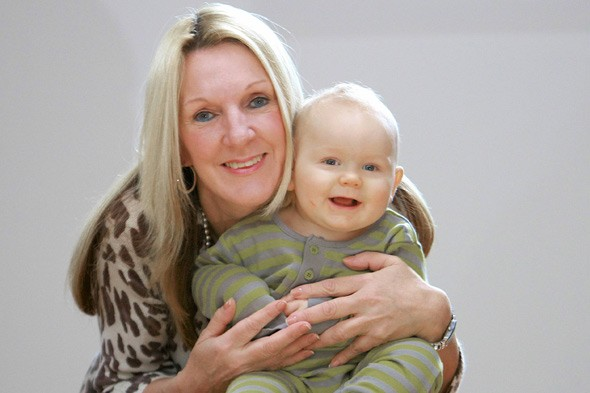 Odds the same as winning the lottery: Grandmother becomes one of Britain's oldest mums after conceiving naturally at 53!