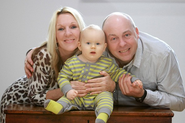 Debbie Hughes and Mark Clarke with new baby Kyle