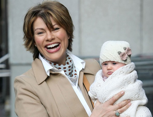 Proud mum Kate Silverton shows off baby Clemency on the Lorraine show