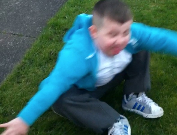 Parents film seven year-old son falling asleep as he plays football to prove to doctors he has narcolepsy