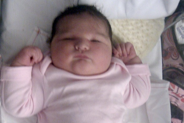 Britains heaviest baby girl born weighing 14lbs 14oz