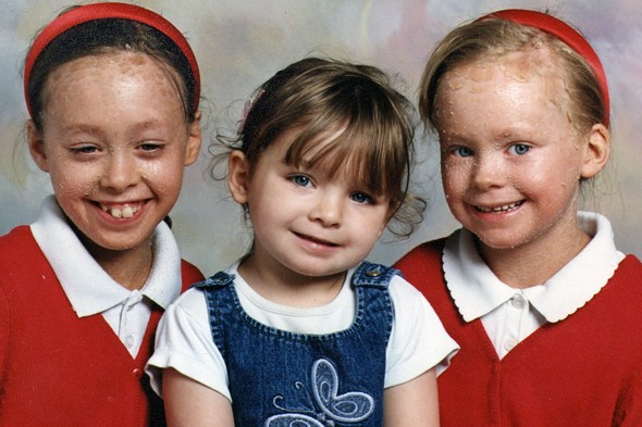 Emma and Stacey Picken with their younger sister Ellie