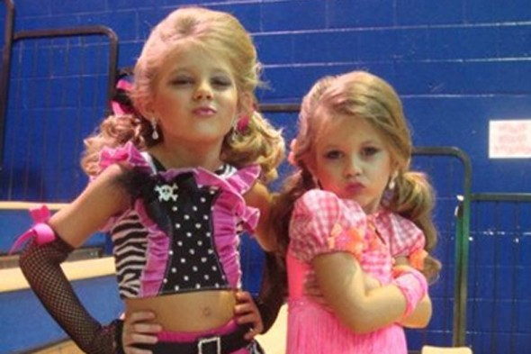 Sisters Kylie and Karley Barnes compete against each other in pageants