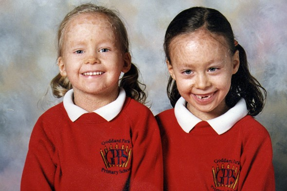 Emma and Stacey Picken in their Primary school photo