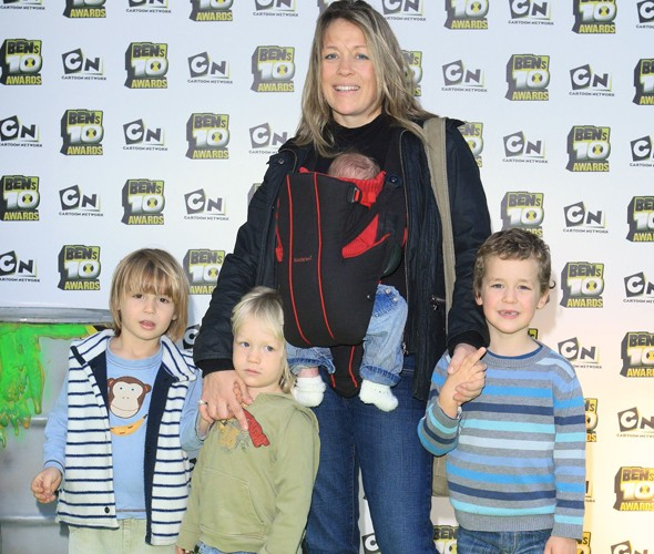 Sarah Beeny and her four sons