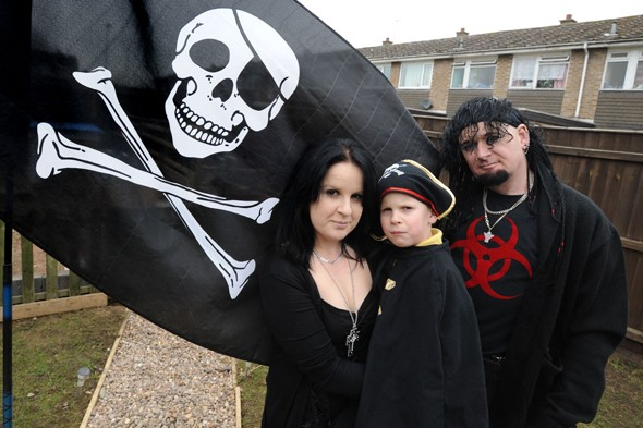 Seven-year-old Asperger's boy told he cannot fly pirate flag in garden