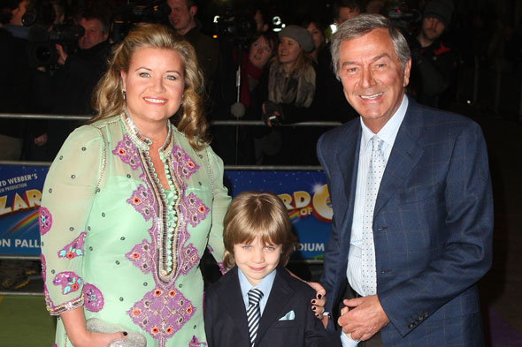 Des O'Connor with wife Jodie and son Adam