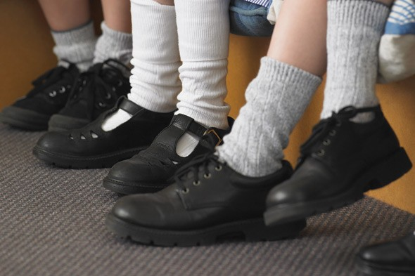 School shoes and plimsolls