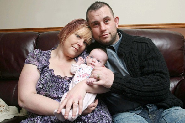 Miracle Mia: Baby joy for mum who suffered 14 miscarriages, a stillbirth and the death of her two-week-old son