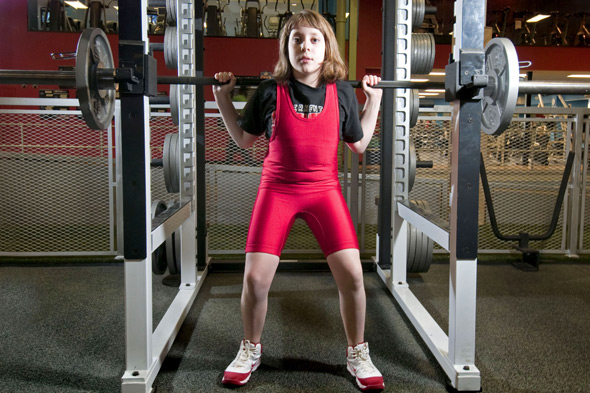 Weigh to go, girl! Ten year-old Naomi lifts twice her body weight and smashes world weightlifting record