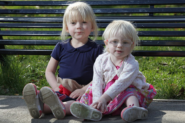 Toddler sisters whose bodies are turning to CRYSTAL