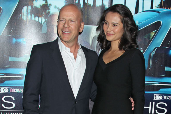 Bruce Willis and his second wife Emma Heming-Willis