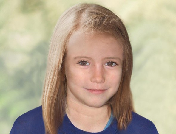 Madeleine McCann age progression image as she might look at nine years old