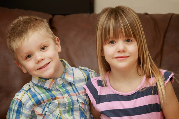 Twins Joshua and Leah, conceived in separate wombs