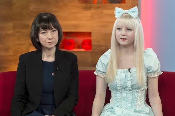 Mum praises daughter who makes herself look like a 'living doll'