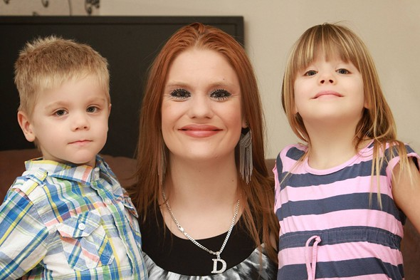 Danielle Young and twins Joshua and Leah
