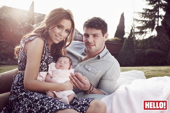 Una Healy', husband Ben Foden and their daughter Aoife