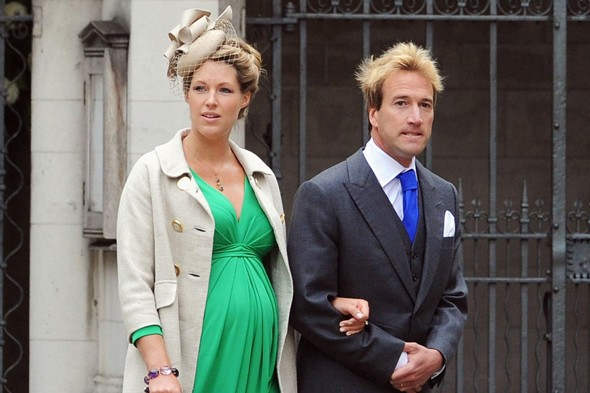 Ben Fogle and pregnant wife Marina attend the Royal Wedding in April 2009