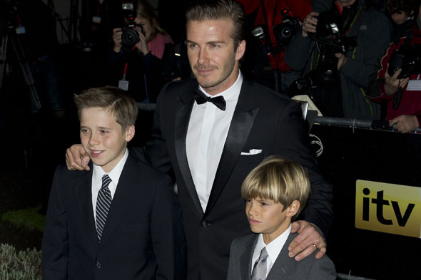 David Beckham makes his boys do chores in return for pocket money