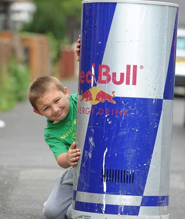 Chilly encounter for boy James Hunt, 7, after he gets stuck in a fridge