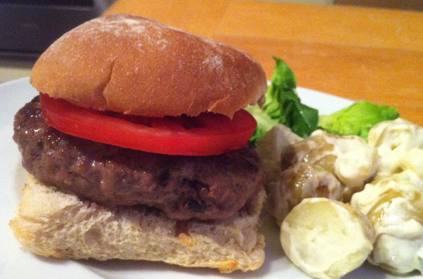The Housedad Chronicles: The ultimate Father's Day 'Surprise' Burger (clue: the secret's inside!)