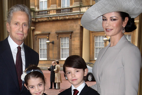 Catherine Zeta Jones, Michael Douglas and children Dylan and Cerys