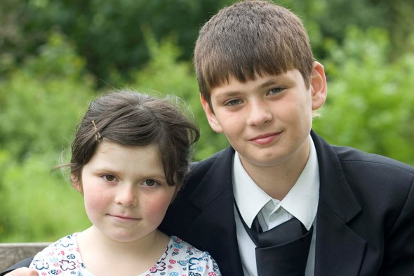 Hero Luke Pace, 12, dives into swollen river to rescue six year-old girl Suranne Atkinson