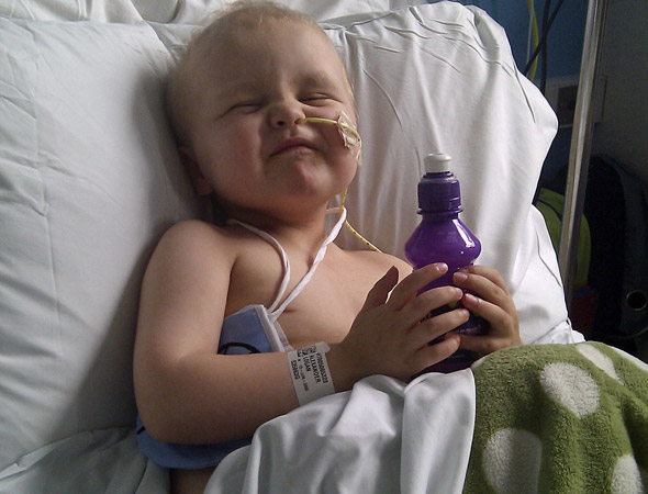 Little boy gets voice back after chemotherapy thanks to sucking on an ice pop!