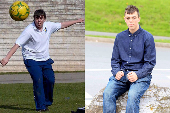 Teenage boy loses a whopping SEVEN stone in just SIX months!