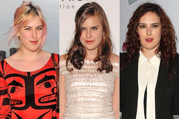 Demi Moore's daughters (left to right) Scout, Tallulah, Rumer