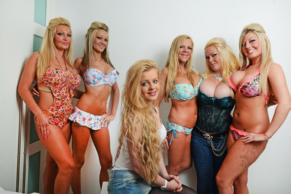 Mum and four daughters have 13 boob jobs between them...and can't understand why daughter number five, 14, doesn't want to have one!