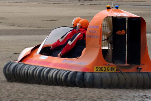 Boy, 11, rescued by hovercraft after getting trapped in QUICKSAND