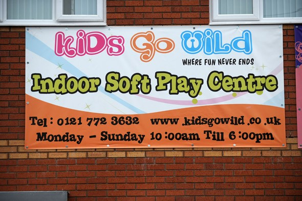The kiddies' play centre where dads are BANNED