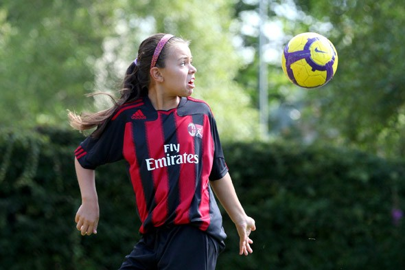 Ten-year-old becomes first girl to be signed up by Italian football giants AC Milan