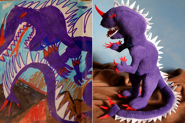 The woman who turns your child's drawings into one-of-a-kind cuddly toys